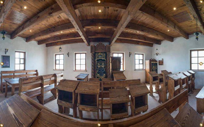12ft Baal Shem Tov Synagogue Sukkah Wall Panel - sukkah360.com