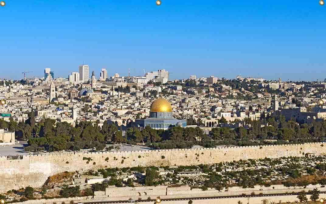 12ft Wall Panel Jerusalem Temple Mount - sukkah360.com