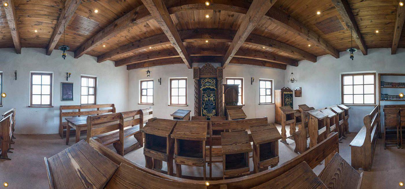 16ft Baal Shem Tov Synagogue Sukkah Wall Panel - sukkah360.com