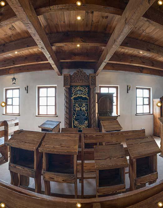 6ft Baal Shem Tov Synagogue Sukkah Wall Panel - sukkah360.com