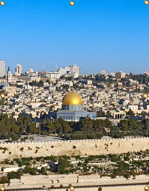 6ft Wall Panel Jerusalem Temple Mount - sukkah360.com