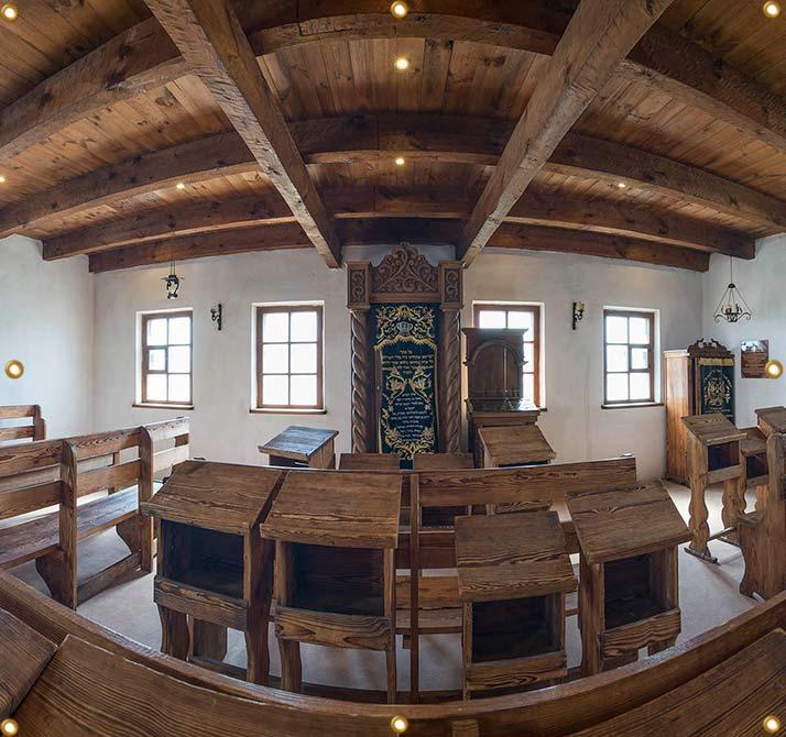 8ft Baal Shem Tov Synagogue Sukkah Wall Panel - sukkah360.com