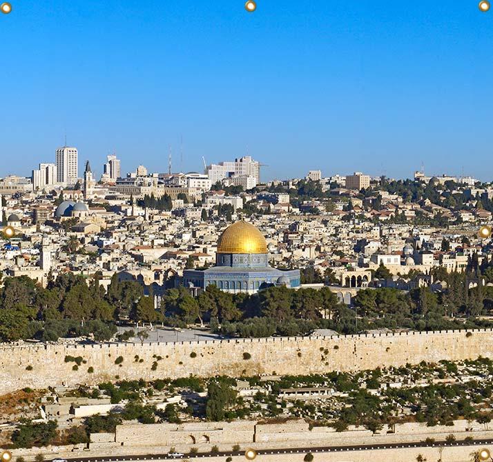 8ft Wall Panel Jerusalem Temple Mount - sukkah360.com