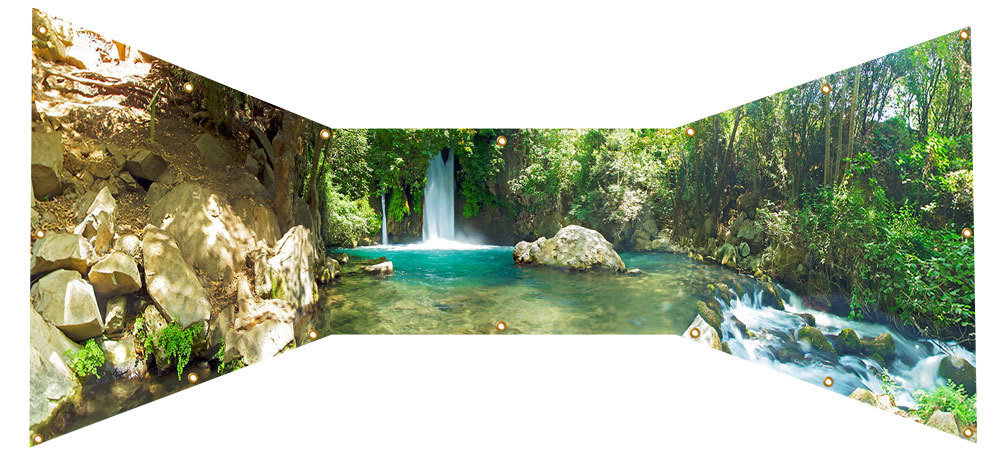 Banias Waterfall Israel Sukkah Wall Panel