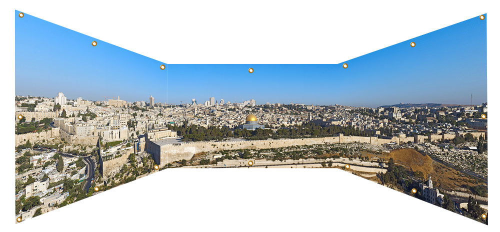 Jerusalem Skyline Sukkah Wall Panel