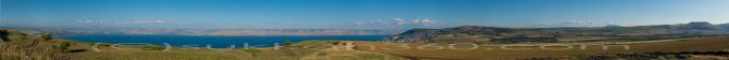 Kinerret from Arbel Panorama - sukkah360.com