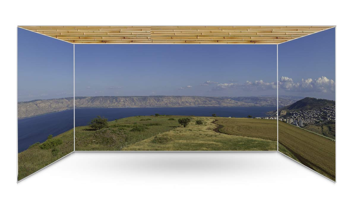 Kinerret from Arbel Panoramic Sukkah Kit - sukkah360.com