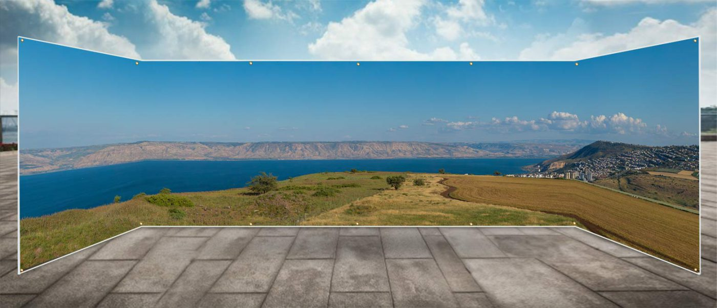 Kinerret from Arbel Panoramic Sukkah Wall - sukkah360.com