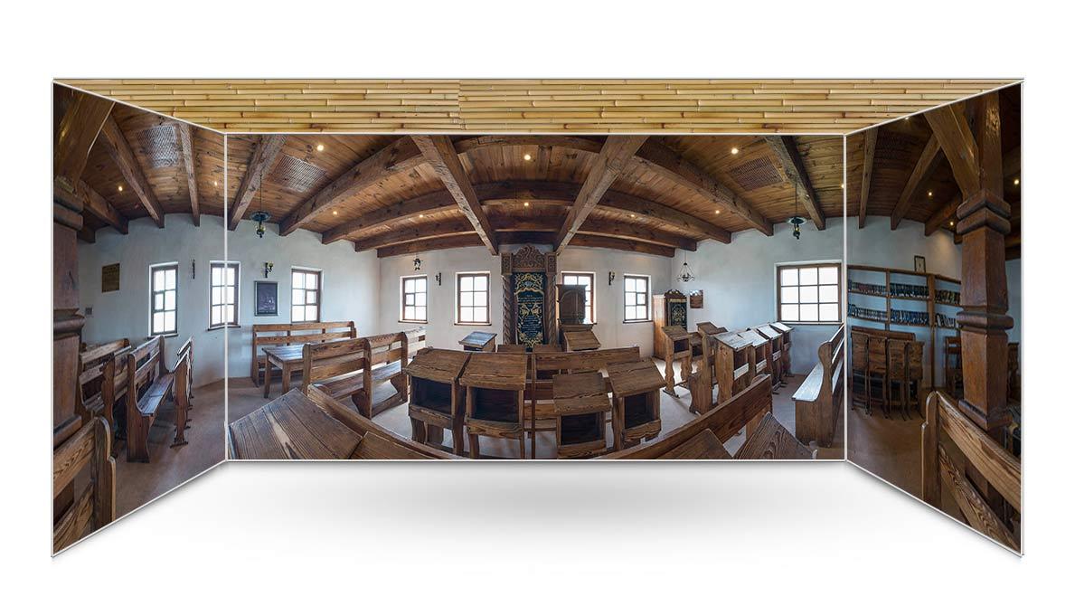Ba'al Shem Tov Synagogue Panoramic Sukkah Kit - sukkah360.com