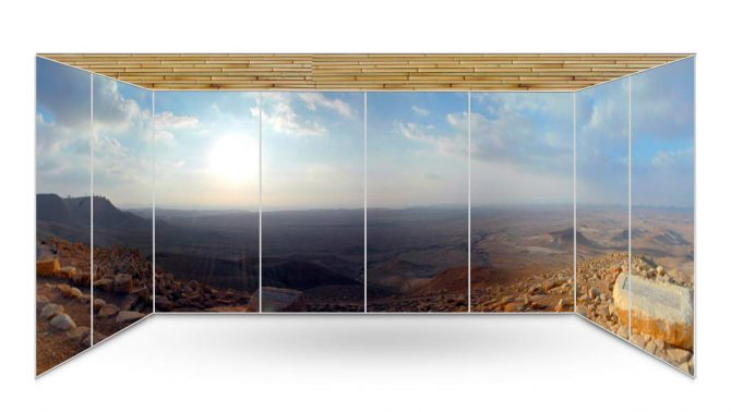 Kadesh Barnea Panoramic Sukkah Wallaper - sukkah360.com