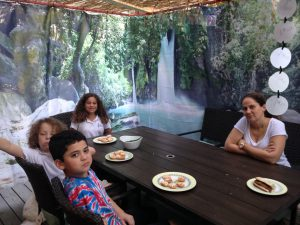 The Banias Panoramic Sukkah Wall and Happy Family