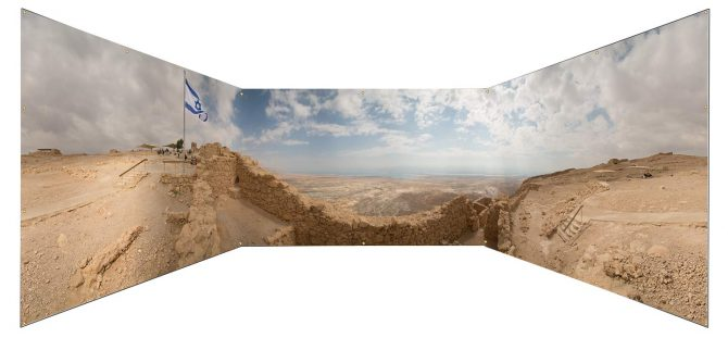 Masada East Gate Panoramic Sukkah Wall - sukkah360.com