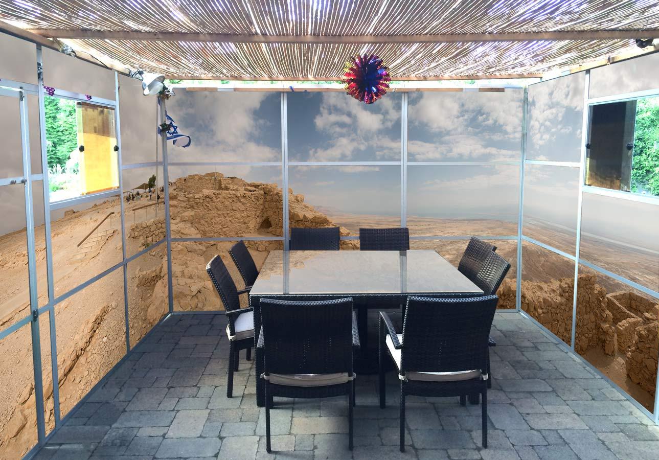 Masada Eastgate Panoramic Sukkah Wallpaper - sukkah360.com