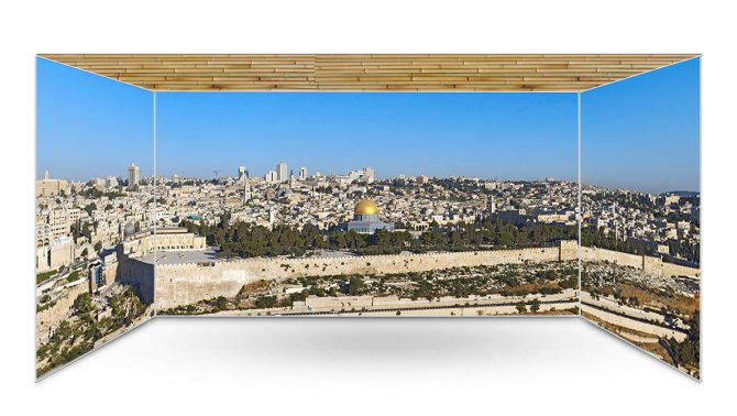 Old City Jerusalem Panoramic Sukkah Kit - sukkah360.com