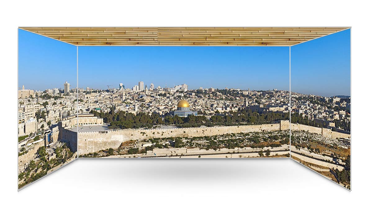 Old City Jerusalem Panoramic Sukkah Kit - sukkah360.com
