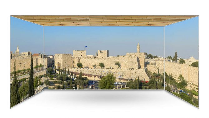 Tower Of David Jerusalem Panoramic Sukkah Kit-sukkah360.com