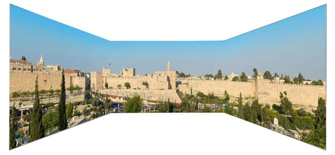 Tower of David Jerusalem Panoramic Sukkah Wall Panel