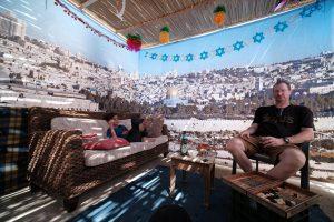 Old City Jerusalem Panoramic Sukkah Kit Interior