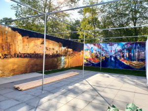 Chabad of Westport Jerusalem Sukkah Kit - 24x36 feet 10 feet high. Our Largest Sukkah To date (2018)