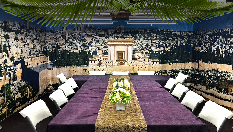 Beit HaMikdash Panoramic Sukkah - Sukkah Panel - sukkah360.com