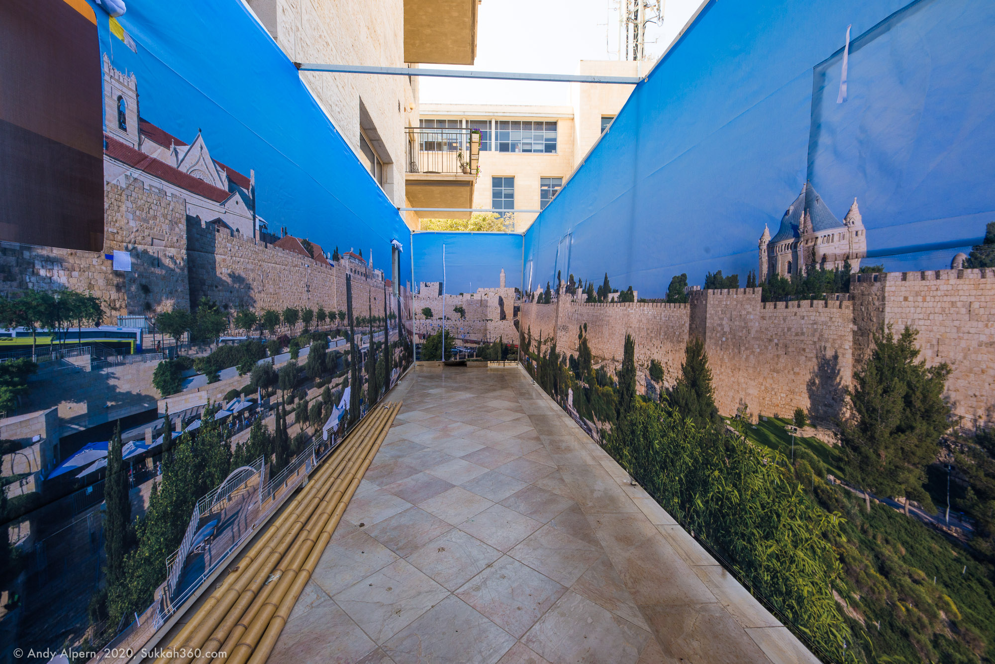 Jerusalem Old City Walls Panoramic Sukkah - Buy Sukkah Online 2020
