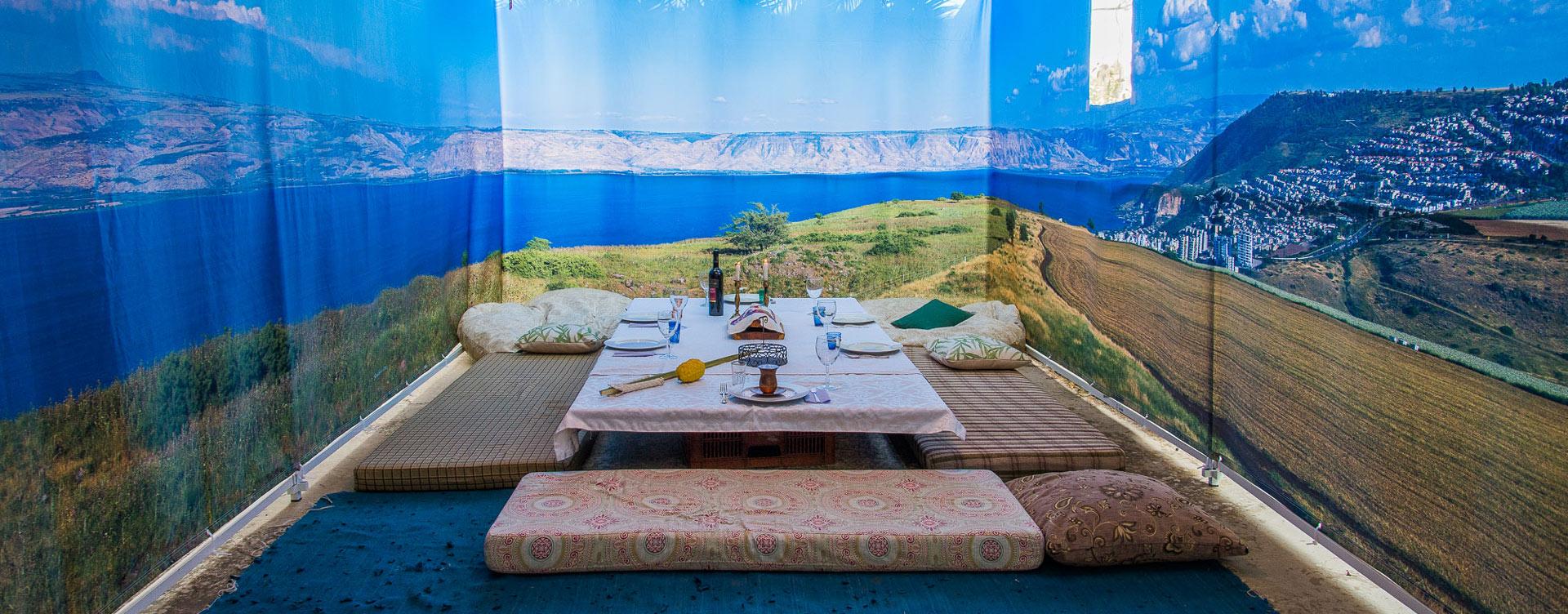 Kinneret, Galilee, Golan Panoramic Sukkah Walls - Buy Sukkah Online 2020
