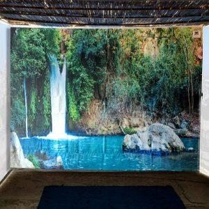 The Banias Waterfall Single Wall Sukkah Panel - Buy Sukkah Online 2021